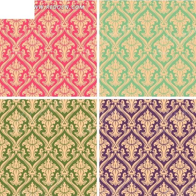 欧式 古典花纹 精美花纹 底纹 背景 矢量素材 花纹 花纹素材 对称 二