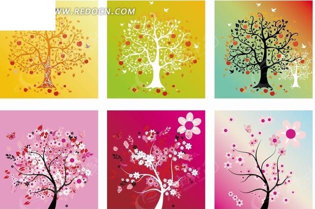 幼儿创意线条画花朵