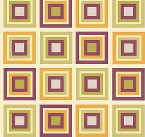 矢量花纹背景古韵彩色的方格方框集合