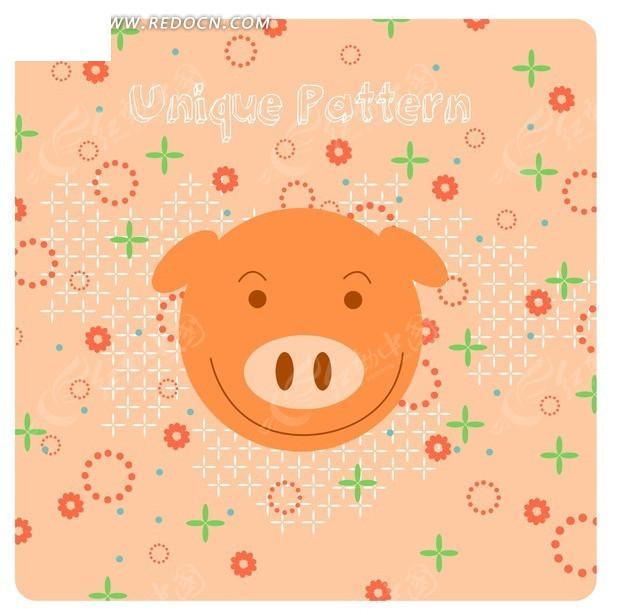 猪头剪纸图片步骤