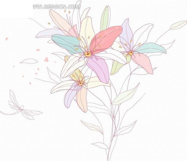 蝴蝶手绘彩色边框