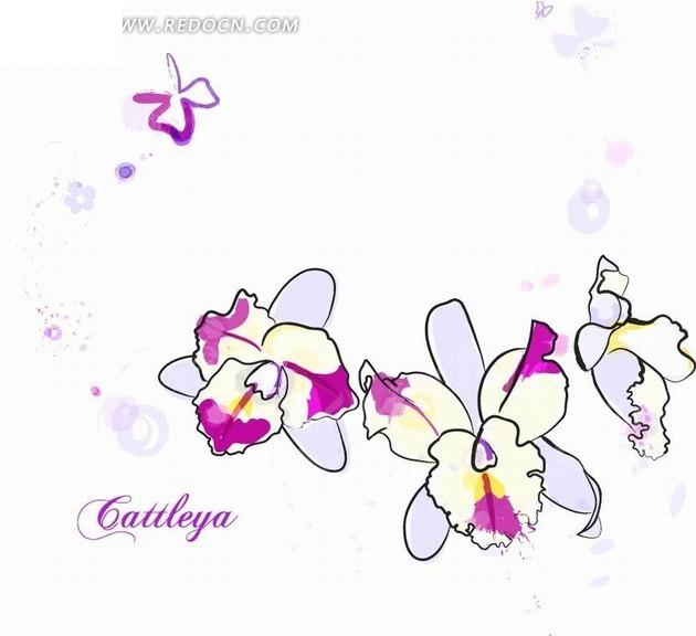 向日葵 太阳花 唯美手绘 唯美甜蜜手绘花卉插画浪 黑白花卉插画图案