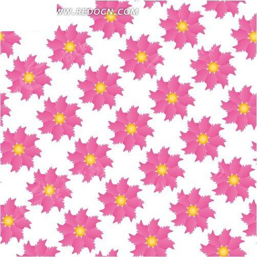 粉色美丽花朵构成的图案