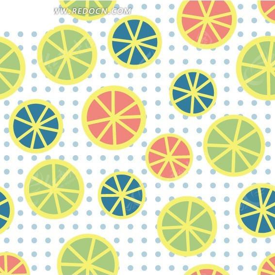 手绘柠檬片底纹背景设计