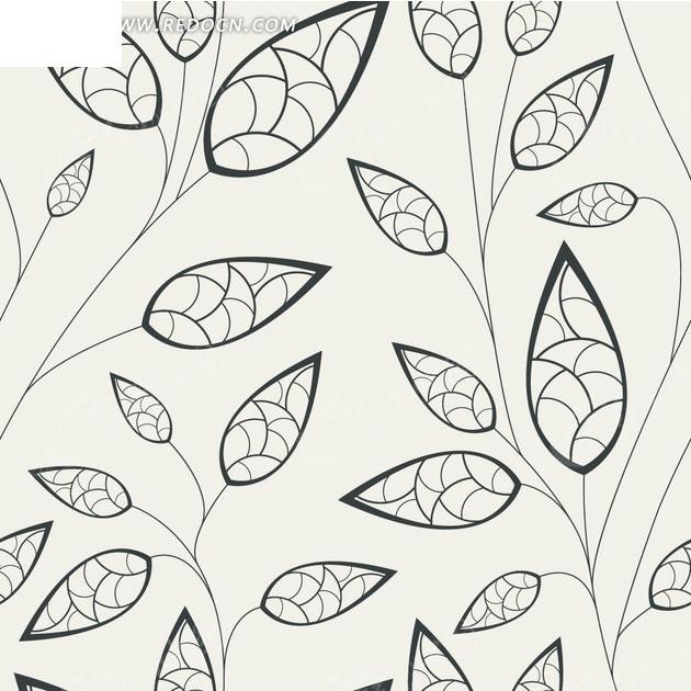 白色背景叶子叶脉图案图片