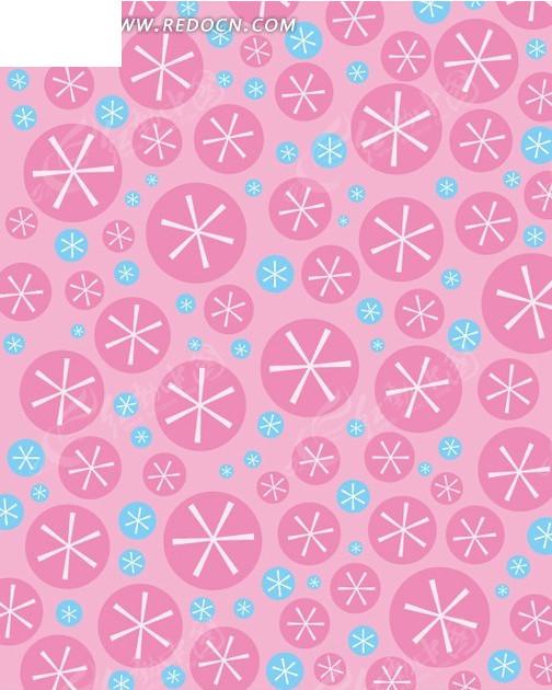 粉红背景 圆形米子花纹 图案 平铺 底纹 背景素材 矢量素材