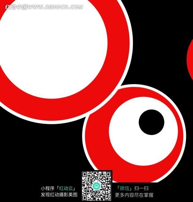 红黑白动感的彩色圆环圆圈背景插图图片图片