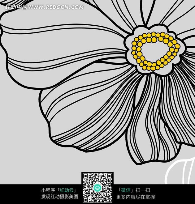 卡通花朵简单画_花草树木_红动手机版