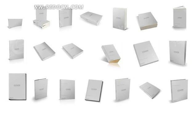 免费素材 psd素材 ps插件下载 动作插件 书本书籍封面装帧动作库二