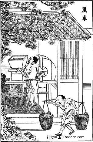 古代工具—风车图片