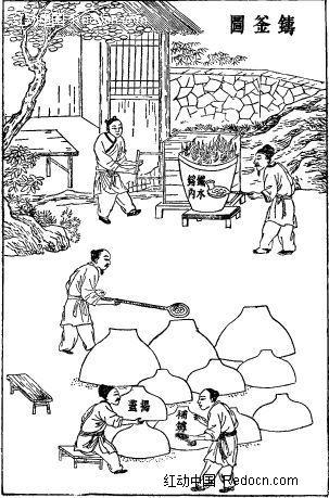 手绘古代房子图片;