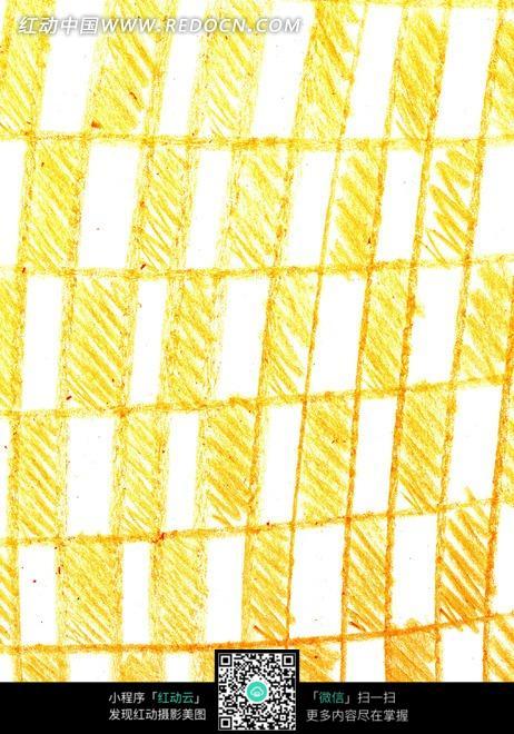 手绘黄色白色格子背景素材图片