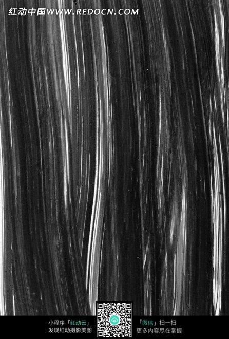 水墨背景毛笔圆滑竖线涂抹的墨迹