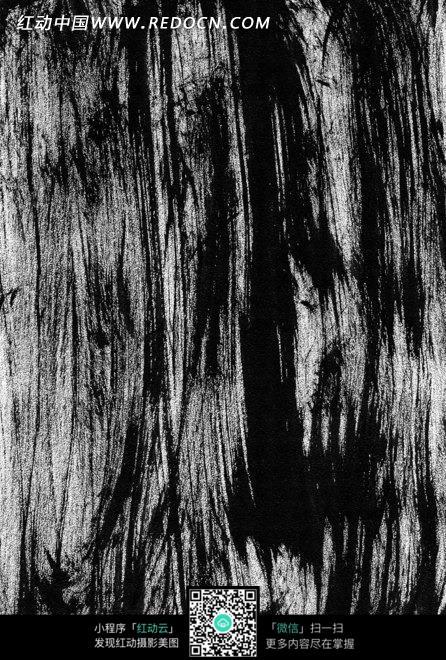 黑色水墨背景毛笔竖线涂抹的墨迹