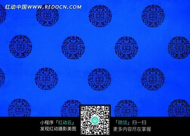 装饰 古典图案 蓝色布纹 布料纹理 底纹 花纹 花纹素材 花边 花边素材