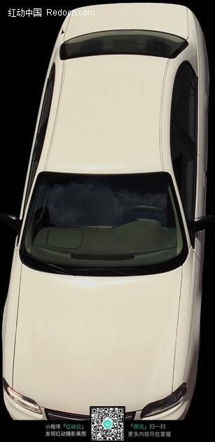 白色小轿车俯视图图片