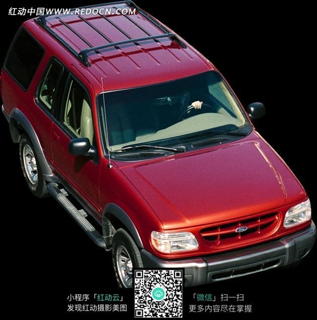 红色福特越野车图片