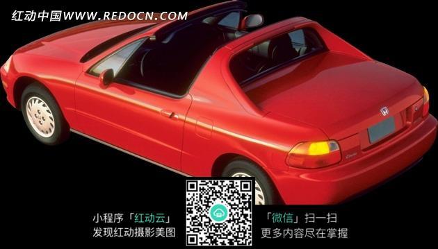 红色汽车 单排座汽车 敞篷车 红色敞篷 汽车 车辆 交通工具 科技图片 高清图片