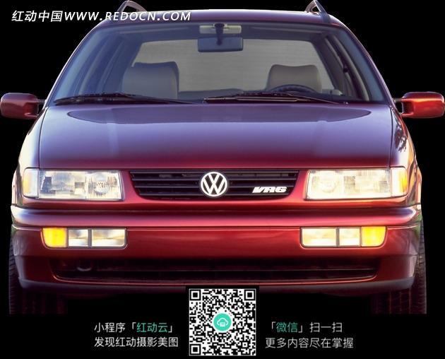 红色大众汽车前脸图片高清图片