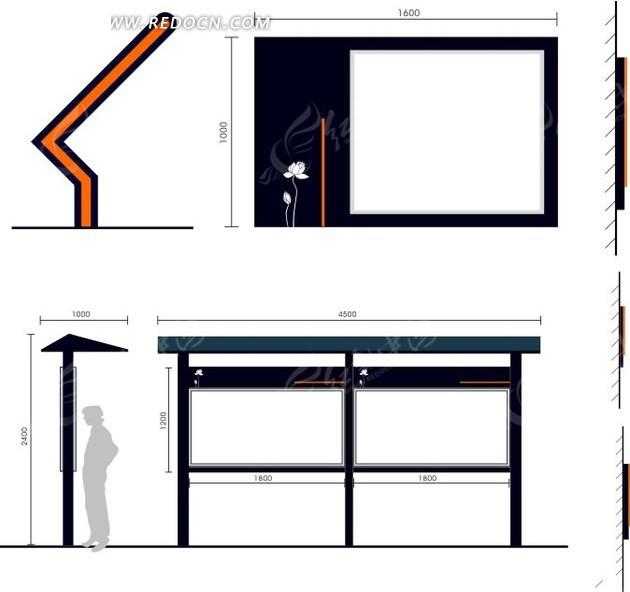 公交站臺素材圖片