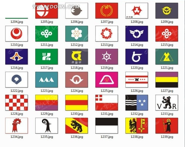 国家国旗设计 高清图片