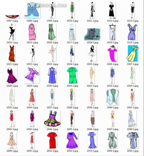 校园礼服设计图片