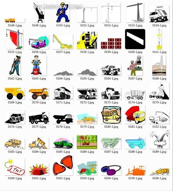 免费素材 矢量素材 生活百科 其他 插画—汽车工人吊车合辑  请您分享
