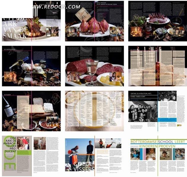 画册设计—包含美食和外国人的画册图片