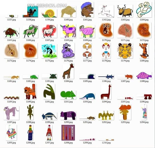 卡通羊头简笔画_藏羚羊羊头简笔画
