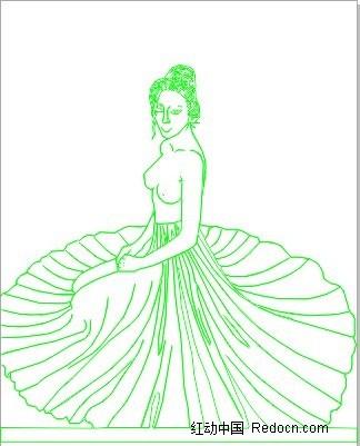 线描 白描 美女 人体  美女图片 女人图片 女性图片 人物素材 人物