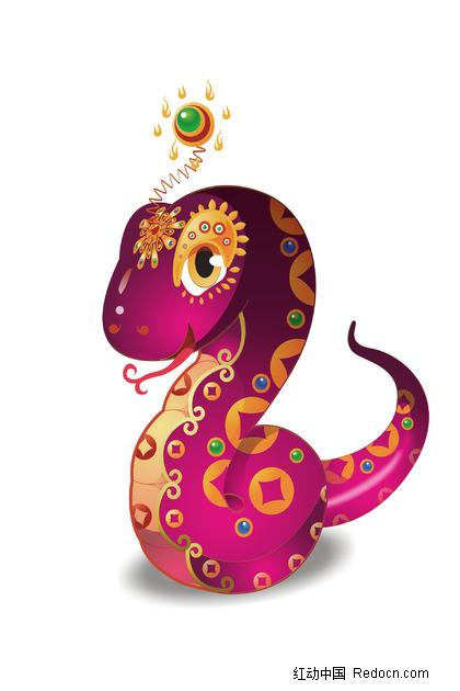 紫蛇盘旋图片_动物图片
