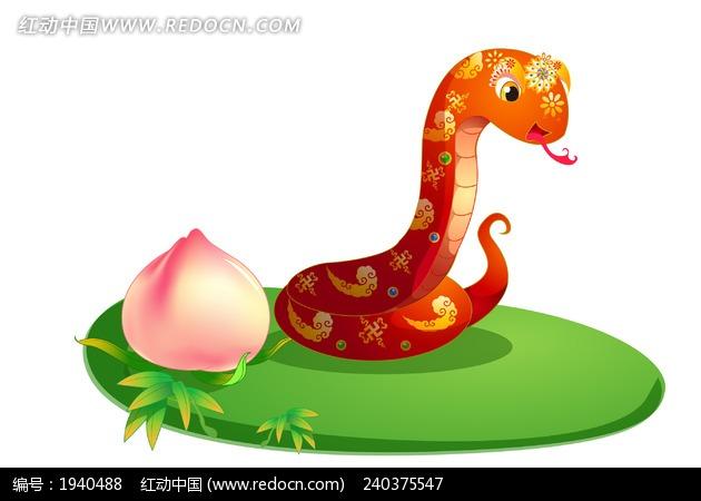 卡通蛇 动物绘画