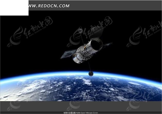 围绕地球拍摄的人造卫星