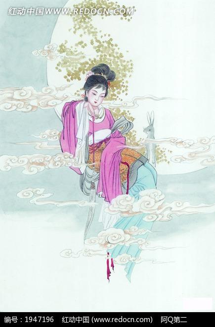 嫦娥古风手绘手绘图