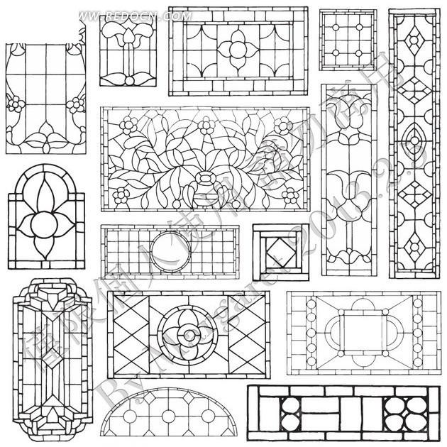 中国风窗框设计