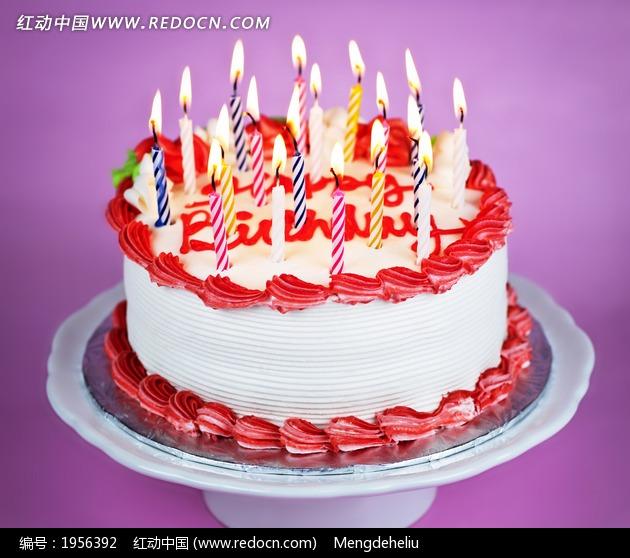 美味奶油生日蛋糕美食图片图片