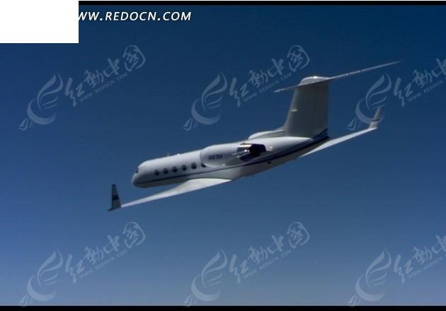 视频短片 蓝色天空 飞行 白色民航客机 飞机 视频素材 宣传视频下载
