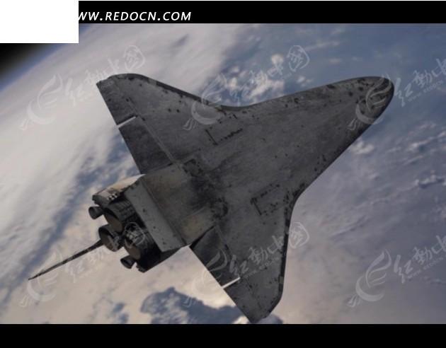 免费素材 视频素材 实拍素材 科学医疗 地球上飞过的航天飞机  请您分