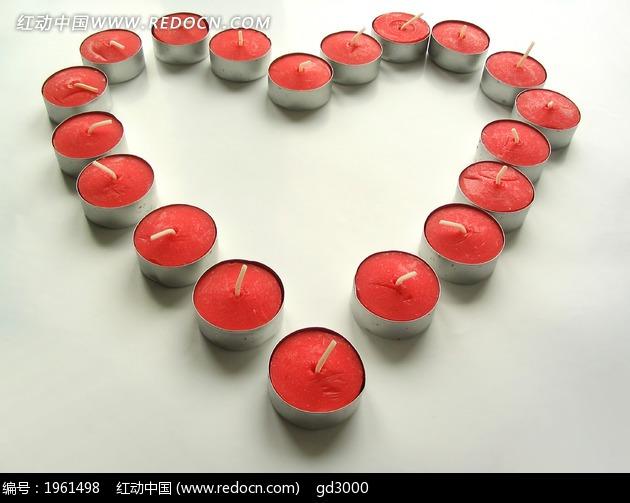 心型蜡烛图片