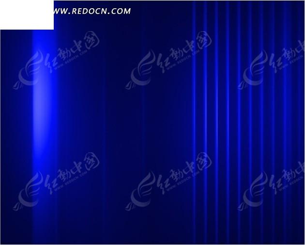 蓝色科技条纹光芒