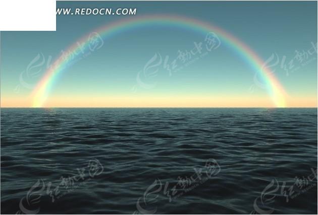 彩虹海水 海面彩虹图片