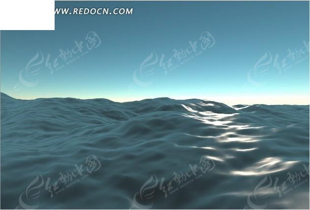 海面波浪图片