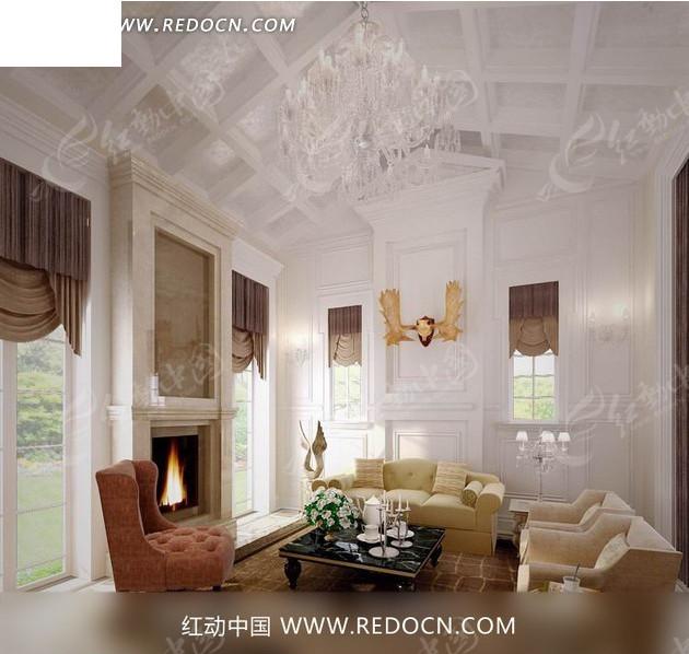 白色素雅客厅效果图