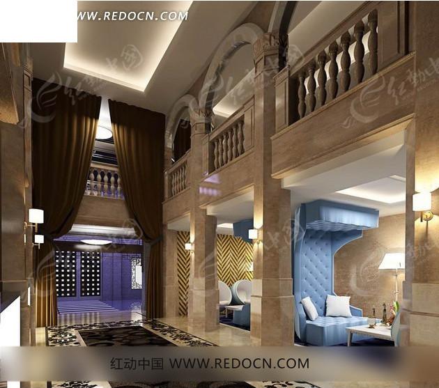 豪华复式楼房室内设计
