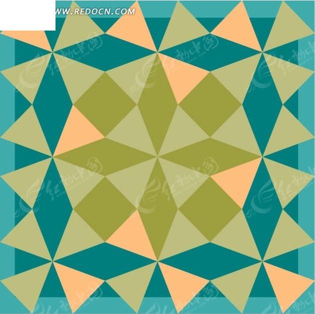 蓝色背景三角形图案图片