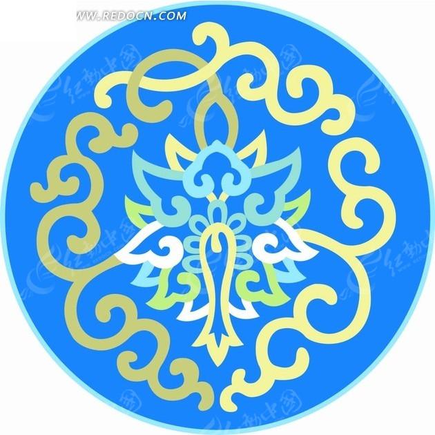 中国传统圆形花纹; 精美底纹图案矢量素材矢量图_花纹花边;