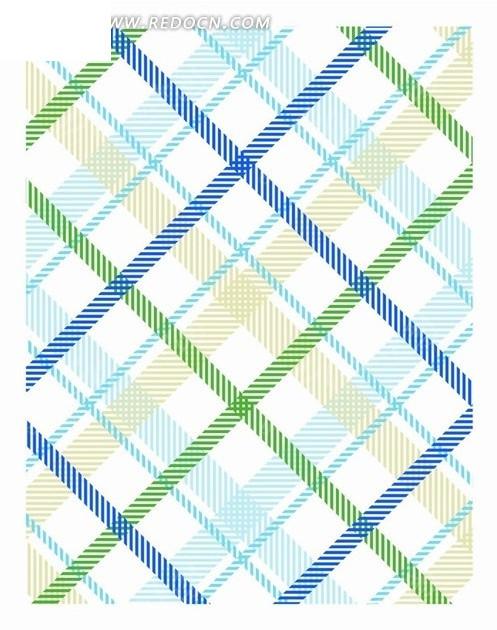 蓝色绿色棕色菱形格子构成的图案