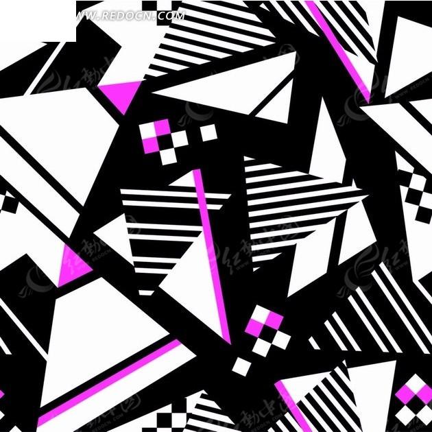 彩色线条三角形图案图片