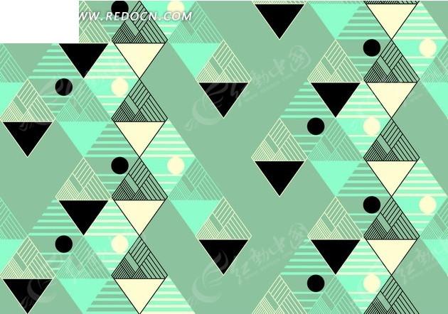 三角形菱形和横条纹圆形背景素材图片