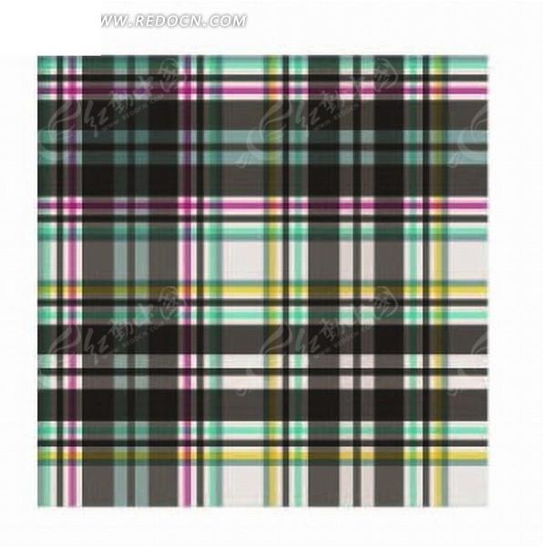 黑色紫色绿色竖格子背景图案矢量图_底纹背景